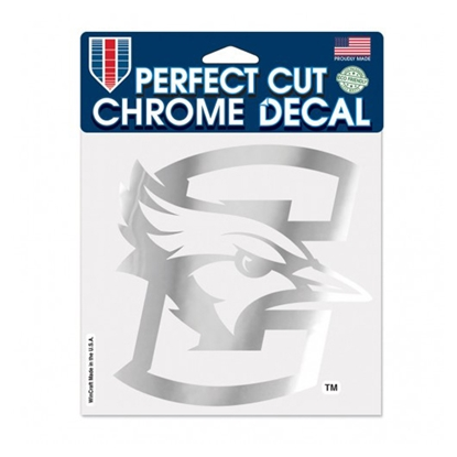 "Picture of Creighton 6"" x 6"" Perfect Cut Chrome Decal"