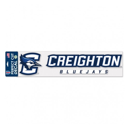 "Picture of Creighton 4"" x 17"" Perfect Cut Decal"