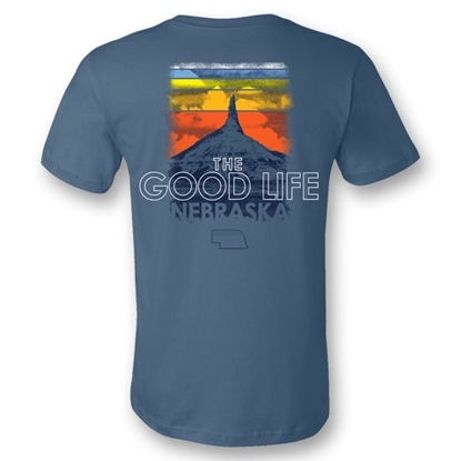 Picture of Nebraska Good Life Sunset T-Shirt