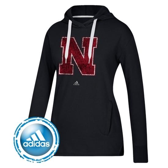 Picture of Nebraska Adidas® Ladies Primary Logo Fleece Hood