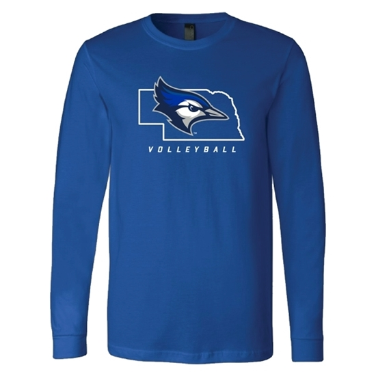 Picture of Creighton Volleyball Soft Cotton Long Sleeve Shirt (CU-181)