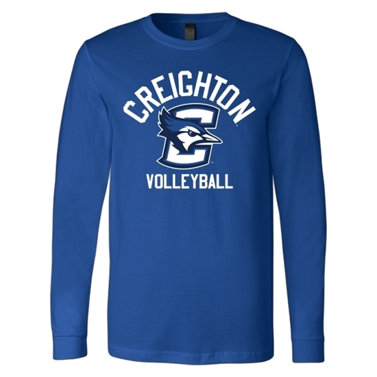 Picture of Creighton Volleyball Soft Cotton Long Sleeve Shirt (CU-184)
