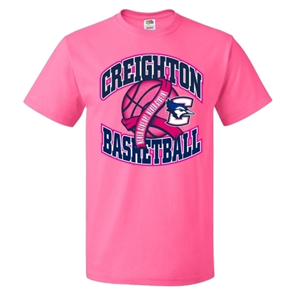 Picture of Creighton Basketball Pink Out Short Sleeve Shirt (CU-188)