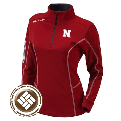 Picture of Nebraska Columbia® Ladies Shotgun ¼ Zip Pullover