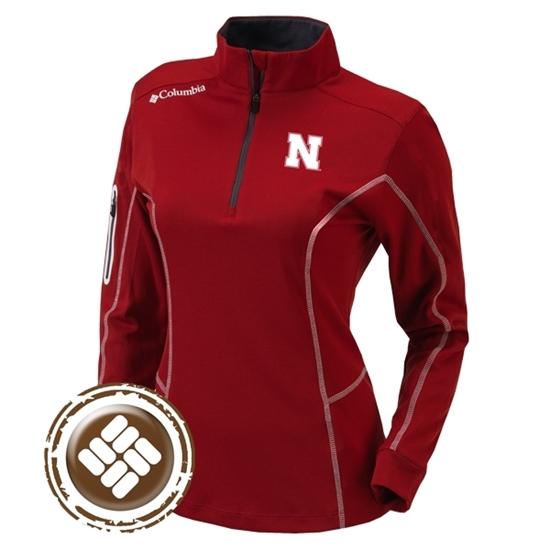 Picture of Nebraska Columbia® Ladies Shotgun ¼ Zip Pullover