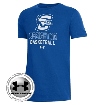 Picture of Creighton Under Armour® Youth Basketball Performance Cotton Short Sleeve Shirt