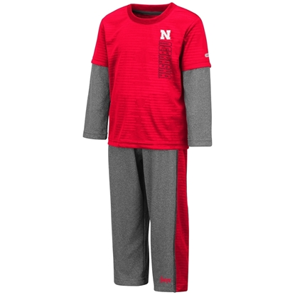 Picture of Nebraska Colosseum® Toddler Boys Bayharts Pant & Shirt Set