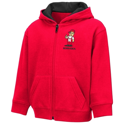 Picture of Nebraska Colosseum® Toddler Boys Schnapsie Full Zip Hoodie