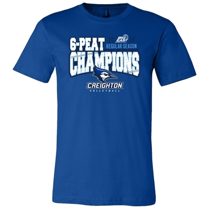Picture of Creighton 2019 Big East Volleyball Regular Season Champions Short Sleeve Shirt