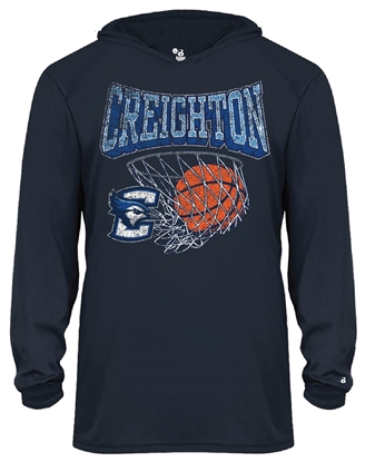 Picture of Creighton Net Youth Long Sleeve Hoodie