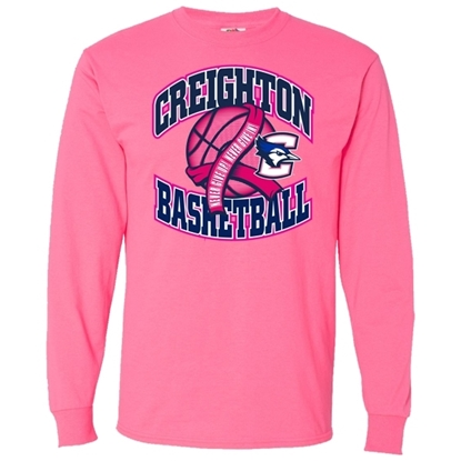 Picture of Creighton Basketball Pink Out Long Sleeve Shirt (CU-188)