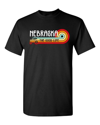 Picture of Nebraska The Good Life Retro Tractor T-shirt