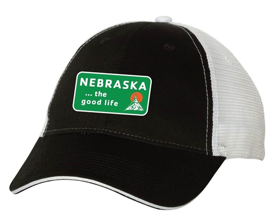 Picture of The Good Life Patch Sandwich Trucker Cap