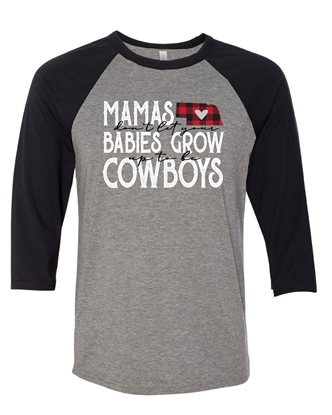 Picture of Mamas & Cowboys Raglan Tee