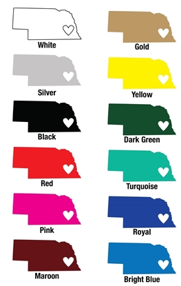 Picture of Nebraska Heart Vinyl Decal