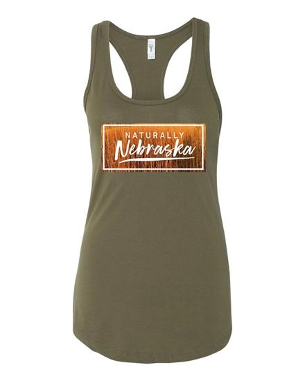 Picture of Naturally Nebraska Golden Grain Racerback Tank