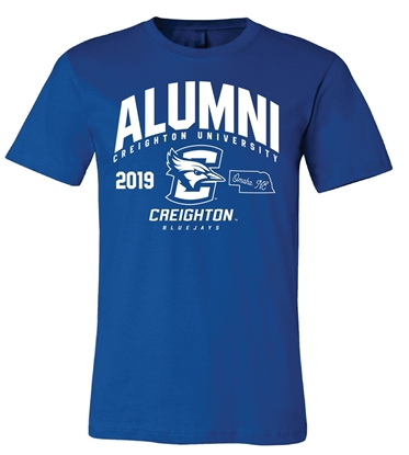 Picture of **PERSONALIZE WITH GRAD YEAR!** Creighton Alumni Soft Cotton Short Sleeve Shirt  (CU-226)