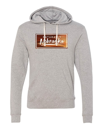 Picture of Naturally Nebraska Sunset Triblend Hoodie