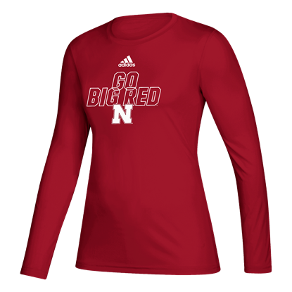 Picture of Nebraska Adidas® Ladies Locker Motto Creator Long Sleeve Shirt