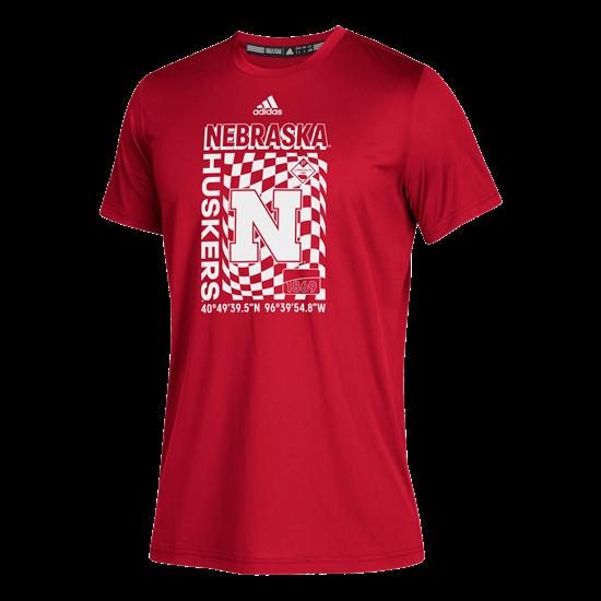 Picture of Nebraska Adidas® Youth Cover Story Aeroready Short Sleeve Shirt