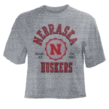 Picture of Nebraska Pressbox®  Ladies Knobi Waist-Length Short Sleeve Shirt