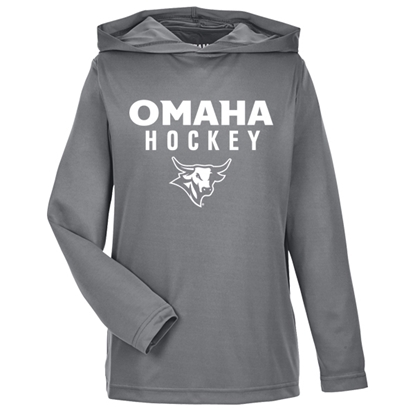 Picture of UNO Youth Hockey Hooded Long Sleeve Shirt (UNO-026)