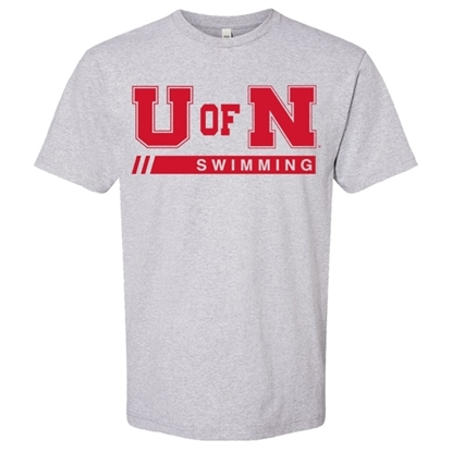 Picture of Nebraska Swimming Short Sleeve Shirt (NU-258)