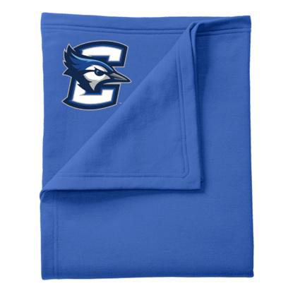 """Picture of Creighton Port & Company® Core Fleece Sweatshirt 50""""x 60"""" Blanket Royal"""